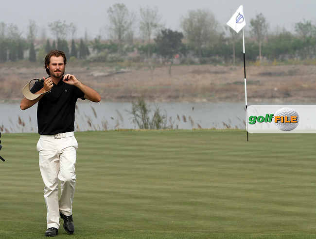 Victor Dubuisson (FRA) on the 17th on the Final Day of the 2012 Volvo China Open at Binhai Lake Golf Club, Tianjin, China...(Photo Jenny Matthews/www.golffile.ie)
