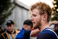 Quinn Simmons (USA) post-finish<br /> Men Junior Individual Time Trial<br /> <br /> 2019 Road World Championships Yorkshire (GBR)<br /> <br /> ©kramon
