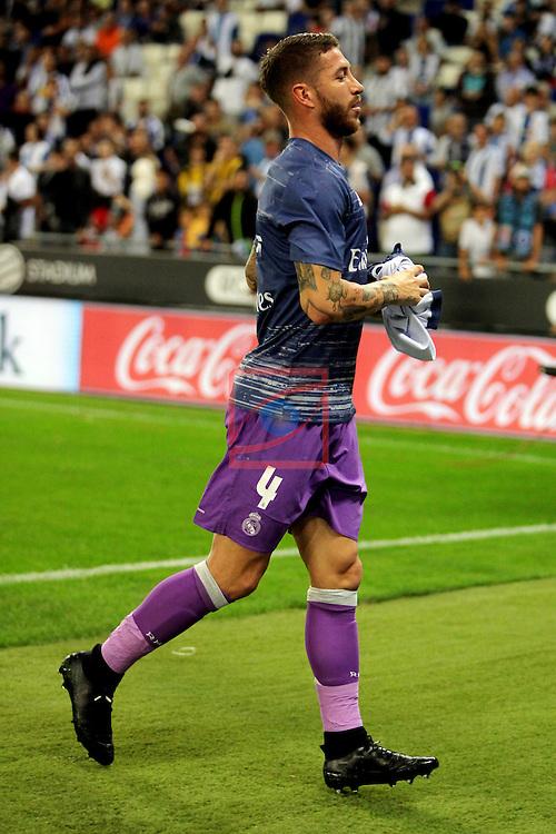 League Santander 2016/2017. Game: 4.<br /> RCD Espanyol vs R. Madrid: 0-2.<br /> Sergio Ramos.