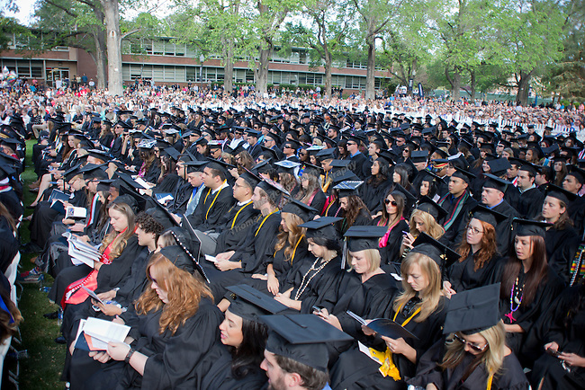 A photo from the University of Nevada, Reno Spring Commencement Exercises on Saturday morning, May 17, 2014.