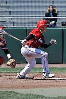 Louisville Cardinals outfielder Drew Haynes (1) during a game against the St.John's Red Storm at Jack Kaiser Stadium in Queens, New York;  April 17, 2011.  St. John's defeated Louisville 7-2.  Photo By Tomasso DeRosa/Four Seam Images