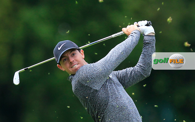 Rory McIlroy (NIR) on the 4th fairway during Wednesday's Pro-Am round of the Dubai Duty Free Irish Open presented  by the Rory Foundation at The K Club, Straffan, Co. Kildare<br /> Picture: Golffile   Thos Caffrey<br /> <br /> All photo usage must carry mandatory copyright credit <br /> (&copy; Golffile   Thos Caffrey)