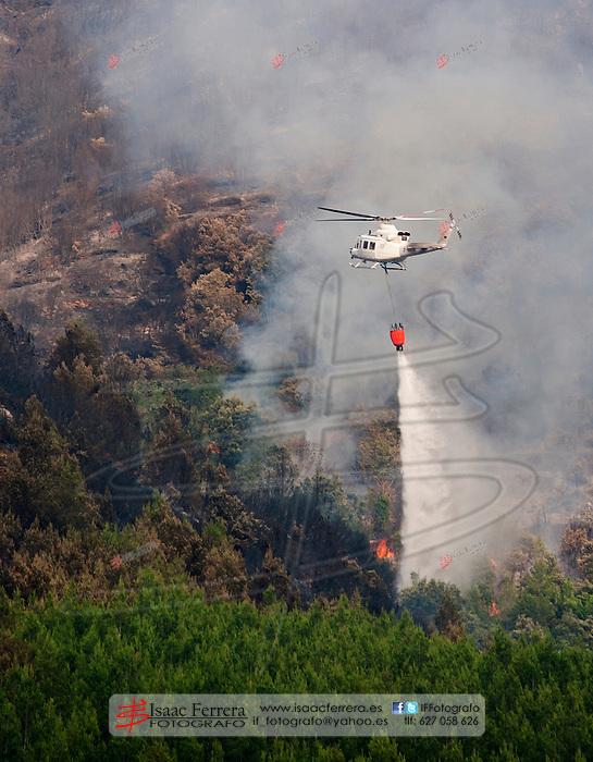 Incendio Forestal en Montan (Castellon-Espa&ntilde;a).<br /> Mont&aacute;n - Castellon (Spain).<br /> julio de 2015