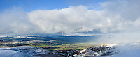 View North from Corn Du of Cwm Llwch, Brecon Beacons national park, Wales