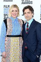 LOS ANGELES - FEB 8:  Greta Gerwig and Noah Baumbach at the 2020 Film Independent Spirit Awards at the Beach on February 8, 2020 in Santa Monica, CA