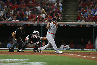 CLEVELAND, OH - JULY 9: Mike Moustakas #11 of the Milwaukee Brewers bats during the 90th MLB All-Star Game at Progressive Field on Tuesday, July 9, 2019 in Cleveland, Ohio. (Photo by Brad Mangin)