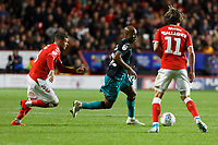 Andre Ayew of Swansea City in action during the Sky Bet Championship match between Charlton Athletic and Swansea City at The Valley, London, England, UK. Wednesday 02 October 2019