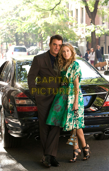 Sex and the City (2008) <br /> Behind the scenes photo of Sarah Jessica Parker &amp; Chris Noth<br /> *Filmstill - Editorial Use Only*<br /> CAP/MFS<br /> Image supplied by Capital Pictures