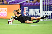 Orlando, FL - Saturday July 07, 2018: Aubrey Bledsoe prior to a regular season National Women's Soccer League (NWSL) match between the Orlando Pride and the Washington Spirit at Orlando City Stadium.