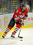 18 January 2008: Northeastern University Huskies' defenseman David Strathman, a Sophomore from Tempe, AZ, in action against the University of Vermont Catamounts at Gutterson Fieldhouse in Burlington, Vermont. The two teams battled to a 2-2 tie in the first game of their 2-game weekend series...Mandatory Photo Credit: Ed Wolfstein Photo