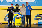 Champion #16: Brett Moffitt, Hattori Racing Enterprises, Toyota Tundra AISIN Group with Tyler Gibbs of TRD and wife