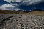 Dry riverbed, Tien Shan Mountains, eastern Kyrgyzstan
