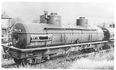 3/4 view of TCX70 two dome tank car.<br /> D&amp;RGW  Durango, CO  Taken by Maxwell, John W. - ca 1939