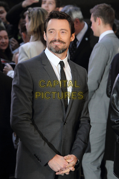 LONDON, ENGLAND - MARCH 31: Hugh Jackman attends the UK Premiere of 'Noah' at the Odeon Leicester Square on March 31, 2014 in London, England<br /> CAP/ROS<br /> &copy;Steve Ross/Capital Pictures