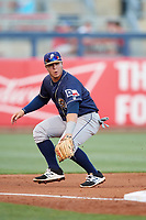 San Antonio Missions third baseman Ty France (8) during a game against the Tulsa Drillers on June 1, 2017 at ONEOK Field in Tulsa, Oklahoma.  Tulsa defeated San Antonio 5-4 in eleven innings.  (Mike Janes/Four Seam Images)