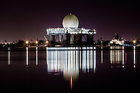 Sea-based X-band Radar at night in Pearl Harbor, O'ahu