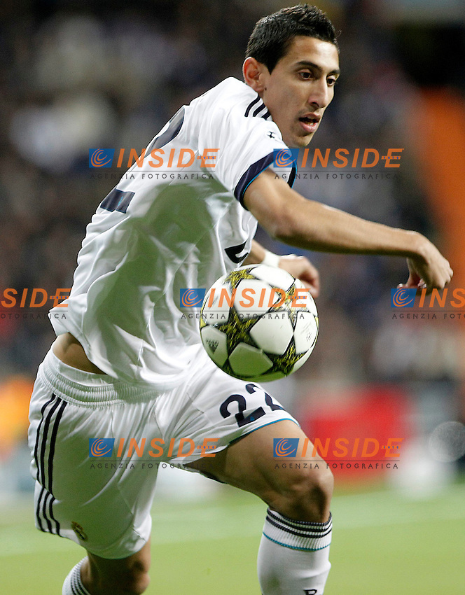 Real Madrid's Angel Di Maria during Champions League 2012/2013 match.November 6,2012. (ALTERPHOTOS/Acero) .Madrid 6/11/2012 Stadio Santiago Bernabeu.Football Calcio Champions League 2012/2013.Real Madrid Vs Borussia Dortmund.Foto Acero / Alterphotos / Insidefoto.ITALY ONLY