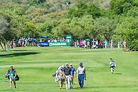 Zander Lombard (RSA) Lee Westwood (ENG) Ernie Els (RSA) during the 2nd round at the Nedbank Golf Challenge hosted by Gary Player,  Gary Player country Club, Sun City, Rustenburg, South Africa. 15/11/2019 <br /> Picture: Golffile | Tyrone Winfield<br /> <br /> <br /> All photo usage must carry mandatory copyright credit (© Golffile | Tyrone Winfield)