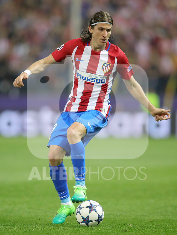 Atletico de Madrid's Filipe Luis during Champions League 2016/2017 Quarter-finals 1st leg match. April 12,2017. (ALTERPHOTOS/Acero)
