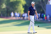 Benjamin Hebert (FRA) on the 18th green during the 2nd round of the DP World Tour Championship, Jumeirah Golf Estates, Dubai, United Arab Emirates. 22/11/2019<br /> Picture: Golffile | Fran Caffrey<br /> <br /> <br /> All photo usage must carry mandatory copyright credit (© Golffile | Fran Caffrey)