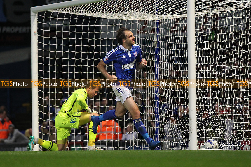 Brett Pitman of Ipswich Town scores the first goal for his team from the penalty spot and celebrates during Ipswich Town vs Birmingham City at Portman Road
