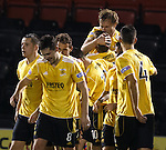 Iain Russell celebrates the final goal with a kiss