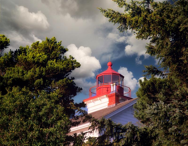 Yaquina Bay Lighthouse. Newly Painted. Oregon.