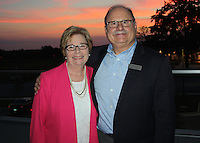 NWA Democrat-Gazette/CARIN SCHOPPMEYER Mary Ann and Philip Taldo enjoy the Gentleman of Distinction VIP reception Thursday evening.