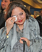 Tanya Khailany sheds tears of joy after casting her ballot in the Iraqi election in New Carollton, Maryland on January 28, 2005.  Ms. Khailany, originally of Kirkuk, Kurdistan, Iraq, currently resides in Germantown, Maryland.  He father is running as a candidate and his name is on the ballot...Credit: Ron Sachs , CNP..(RESTRICTION: NO New York or New Jersey Newspapers or newspapers within a 75 mile radius of New York City)