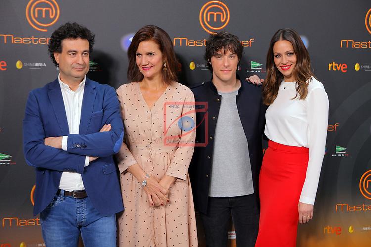 Presentacion MasterChef.<br /> Pepe Rodriguez Rey, Samantha Vallejo-Najera, Jordi Cruz &amp; Eva Gonzalez.