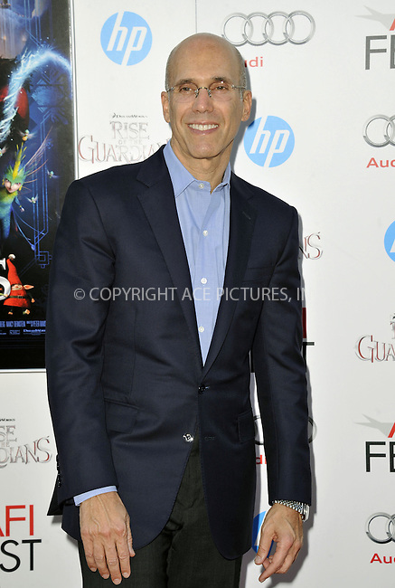 WWW.ACEPIXS.COM....November 4 2012, LA....Jeffrey Katzenberg arriving at the gala screening of 'Rise Of The Guardians' during the 2012 AFI FEST at Grauman's Chinese Theatre on November 4, 2012 in Hollywood, California. ......By Line: Peter West/ACE Pictures......ACE Pictures, Inc...tel: 646 769 0430..Email: info@acepixs.com..www.acepixs.com