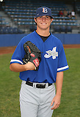July 14th, 2007:  Zach Britton of the Aberdeen Ironbirds, Class-A Short-Season affiliate of the Baltimore Orioles, poses for a photo before a game vs the Jamestown Jammers in New York-Penn League action.  Photo Copyright Mike Janes Photography 2007.