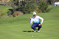 Scott Piercy (USA) on the 6th green at Pebble Beach Golf Links during Saturday's Round 3 of the 2017 AT&amp;T Pebble Beach Pro-Am held over 3 courses, Pebble Beach, Spyglass Hill and Monterey Penninsula Country Club, Monterey, California, USA. 11th February 2017.<br /> Picture: Eoin Clarke | Golffile<br /> <br /> <br /> All photos usage must carry mandatory copyright credit (&copy; Golffile | Eoin Clarke)