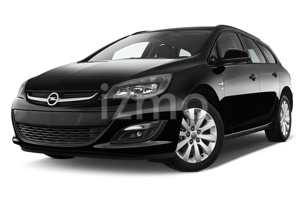 Stock pictures of low aggressive front three quarter view of a 2015 Opel ASTRA Enjoy 5 Door Wagon 2WD Low Aggressive