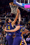 League ACB-ENDESA 2017/2018 - Game: 12.<br /> FC Barcelona Lassa vs Herbalife Gran Canaria: 77-88.<br /> Ante Tomic &amp; Adrien Moerman.