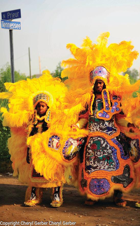 Mardi Gras Indians in Lower Ninth Ward, 2006