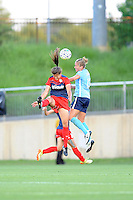 Boyds, MD - Saturday June 25, 2016: Katie Stengel, Kristin Grubka during a United States National Women's Soccer League (NWSL) match between the Washington Spirit and Sky Blue FC at Maureen Hendricks Field, Maryland SoccerPlex.