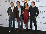 """NAOMIE HARRIS, DANIEL CRAIG, JAVIER BARDEM AND SAM MENDES.attends the photocall for the twenty-third 007 adventure, """"Skyfall"""" at the Villamagna Hotel, Madrid_29/10/2012.Mandatory Credit Photo: ©NEWSPIX INTERNATIONAL..**ALL FEES PAYABLE TO: """"NEWSPIX INTERNATIONAL""""**..IMMEDIATE CONFIRMATION OF USAGE REQUIRED:.Newspix International, 31 Chinnery Hill, Bishop's Stortford, ENGLAND CM23 3PS.Tel:+441279 324672  ; Fax: +441279656877.Mobile:  07775681153.e-mail: info@newspixinternational.co.uk"""
