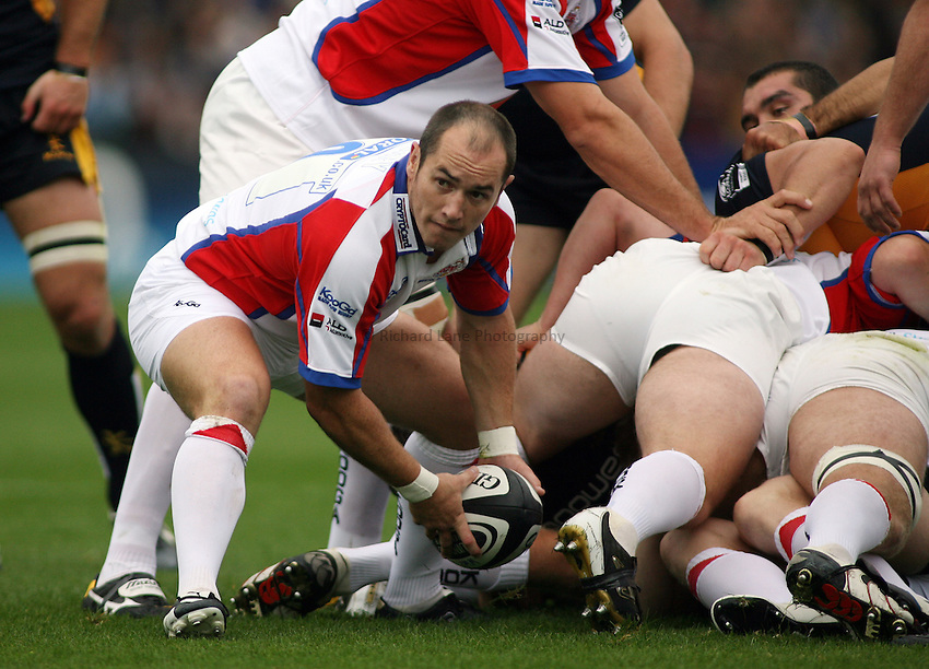 Photo: Rich Eaton...Worcester Warriors v Bristol Rugby. Guinness Premiership. 02/09/2006. Shaun Perry of Bristol.