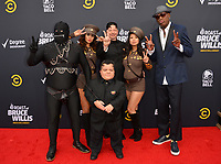 LOS ANGELES, CA - July 14, 2018: Jeff Ross & Dennis Rodman at the Comedy Central Roast of Bruce Willis at the Hollywood Palladium<br /> Picture: Paul Smith/Featureflash.com