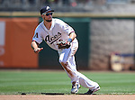 Reno Aces&rsquo; Sean Jamieson makes a play against the Salt Lake Bees at Greater Nevada Field in Reno, Nev., on Tuesday, June 7, 2016. <br />