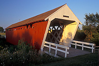 Iowa, St. Charles, covered bridge, Bridges of Madison County. circa 1870 Ives Covered Bridge in St. Charles.