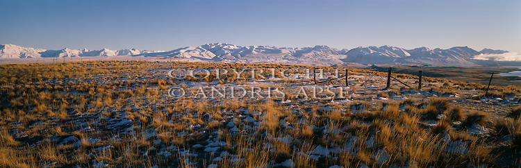 Winter on Mount John. Mackenzie Country. Canterbury Region.  New Zealand.