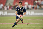 Madison Hughes of USA runs with the ball during the match United States vs Canada, the Cup Final of the HSBC Singapore Rugby Sevens as part of the World Rugby HSBC World Rugby Sevens Series 2016-17 at the National Stadium on 16 April 2017 in Singapore. Photo by Victor Fraile / Power Sport Images