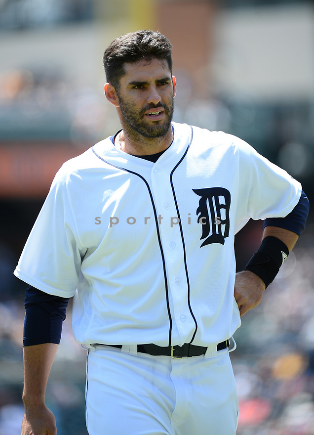 Detroit Tigers JD Martinez (28) during a game against the Toronto Blue Jays on June 8, 2016 at Comerica Park in Detroit MI. The Blue Jays beat the Tigers 7-2.