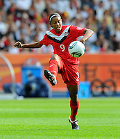 Candace Chapman of Canada during the FIFA Women's World Cup at the FIFA Stadium in Berlin, Germany on June 26th, 2011.