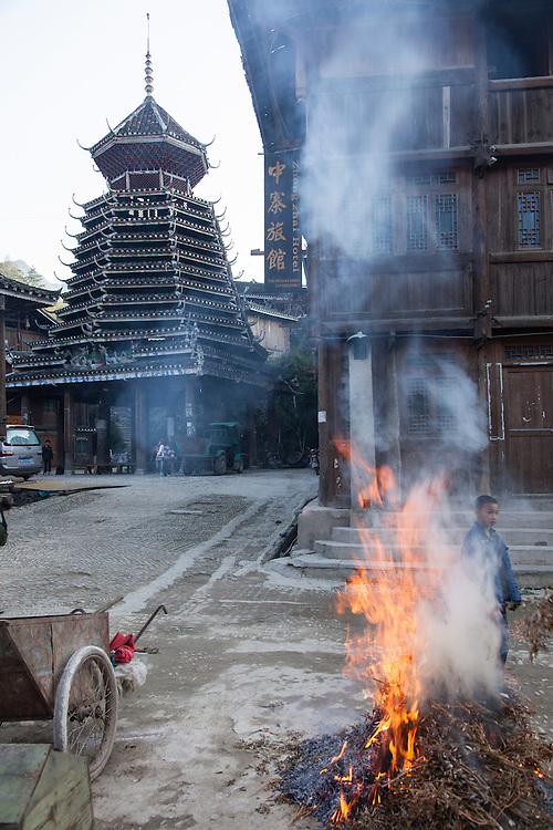 Zhaoxing is the largest and oldest Dong ethnic village in China; complete with 5 Drum Towers plus Wind & Rain Bridges