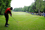 Justin Rose drives off on the 16th hole during the final round of the BMW PGA Championship at Wentworth Club, Surrey, England 27th May 2007 (Photo by Eoin Clarke/NEWSFILE)