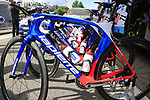 FDJ team Lapierre bikes outside the team bus at sign on in Verviers before the start of Stage 3 of the 104th edition of the Tour de France 2017, running 212.5km from Verviers, Belgium to Longwy, France. 3rd July 2017.<br /> Picture: Eoin Clarke | Cyclefile<br /> <br /> <br /> All photos usage must carry mandatory copyright credit (&copy; Cyclefile | Eoin Clarke)
