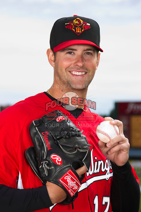 Rochester Red Wings pitcher Scott Diamond #17 poses for a photo during media day at Frontier Field on April 3, 2012 in Rochester, New York.  (Mike Janes/Four Seam Images)